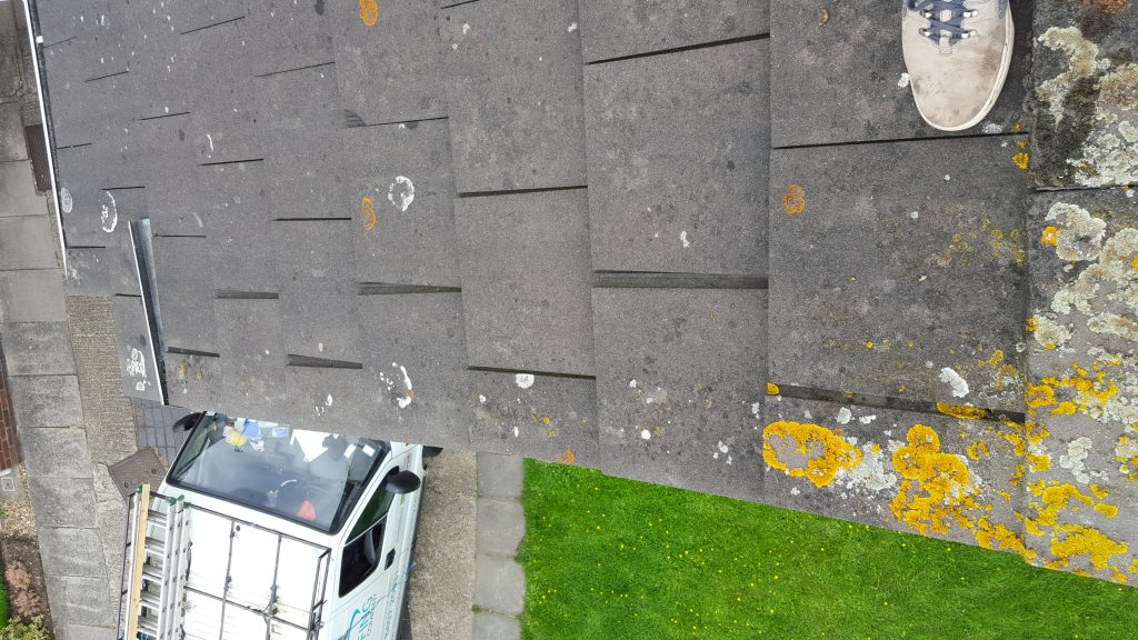 Bodged In Tiles On A Gable - Watchdog Roofing Project