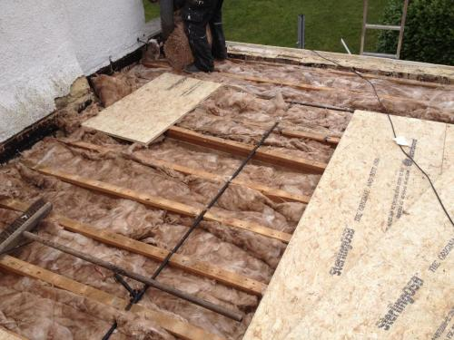 rockwall insulation on top of the cellotex